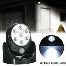 LED Motion Activated Cordless Sensor Light Indoor Outdoor Security Flood Lamp HK