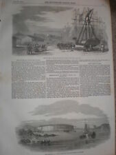 The Aland Islands Finland 1854 old  print and article