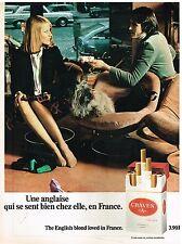 """Publicité Advertising 1974 Les Cigarettes Craven """"A"""""""