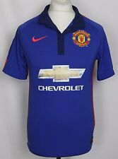 DI MARIA #7 MANCHESTER UNITED THIRD FOOTBALL SHIRT 14-15 MENS SMALL NIKE
