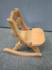 "LARGE DOLL HOUSE - PORCH DECOR -WOODEN  FOLDING ROCKING CHAIR 12"" TALL"