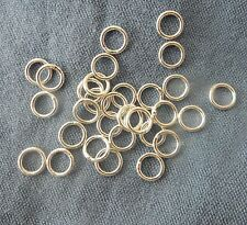 Sterling Silver 7mm Closed Jump Rings 0.9mm thickness x 10
