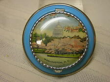 Vtg Compact U. S. Capitol Washington, D. C.Metal Never Used Cherry Blossom Tree