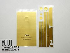 For Apple iPhone 5 5S Gold Metal Color Sticker Cover Decals ( BACK SIDE ONLY)