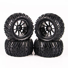 4X RC Tires&Wheel Rim 12mm Hex For 1/10 Bigfoot Monster Truck Traxxas 26201-08