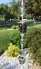 Healing Purple/Green Crystal Suncatcher/Prism W/Crystal Feng Shui Prism Ball USA
