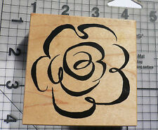 """PSX (Personal Stamp Exchange) Wood Mounted Rubber Stamp """"Brush Stroke Rose"""""""