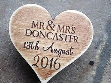 Laser Engraved Layered Plywood Personalised Heart Box, Wedding, 6cm Ring Holder?