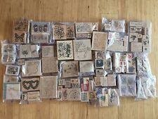 Large Huge Collection Lot of 128 Rubber Stamps - Stamping Cards Crafts