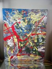 ABSTRACT NYC GRAFFITI CANVAS PAINTING BY MUSK YAI 16X20 2014 BANKSY OBEY SEEN JA
