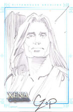 Xena Art Images John Czop Sketch Card of Hercules Sketchafex hand drawn bkground