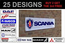 Mack RENAULT SCANIA VOLVO BANNER SIGN WORKSHOP GARAGE Pubblicità TRACK