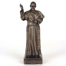 "Pope Francis Detailed Bronze Figurine Miniature Statue 6.25""H New"