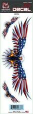 Lethal Threat USA US Eagle Flag Sticker Decal For Motorcycle Forks Fairing Fork