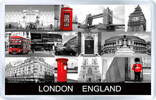 LONDON ENGLAND BW FRIDGE MAGNET SOUVENIR IMAN NEVERA