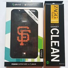 New Skinit NFL San Fransisco giants SF Galaxy S5 Pro Case Cover + ZAGG Cleaner