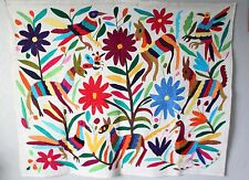 Handmade embroidered Mexican Otomi Tenango Textile