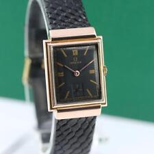 1940's OMEGA RECTANGULAR HODDED LUGS 18K SOLID GOLD MANUAL WIND MEN'S WATCH