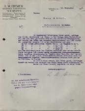 SOLNHOFEN (BAYERN), Brief 1925, Solnhofer Bodenplatten L. M. Hiemer