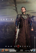 Hot Toys Man of Steel Jor-El Russell Crowe 1/6 Sideshow Superman Father NEW
