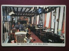 POSTCARD SUFFOLK CLARE - THE BELL HOTEL VIEW OF THE RESTAURANT