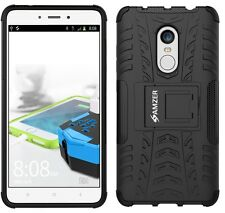 AMZER Rugged Dual Layer Hybrid Warrior Case Stand For Xiaomi Redmi Note 4 -Black
