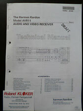 Service Manual  Harman Audio and Video Receiver  AVR 11