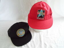 Lot of 2 Star Trek United Federation of Planets Starfleet HQ Cap Hat Snapback