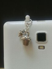 Cup Cake Dangle Charm For Mobile Phone. Tablet. Iphone. Ipad. Dust Plug.