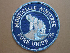 Monticello Winteree Fork Union 76BSA Woven Cloth Patch Badge Boy Scouts Scouting