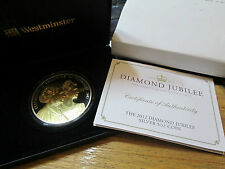2012 5OZ GUERNSEY £10 SILVER & GOLD PROOF COIN BOX & COA DIAMOND JUBILEE scarce
