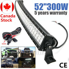 54inch 300W LED Light Bar Combo Beam Curved Work Offroad Truck UTE Jeep 50/52