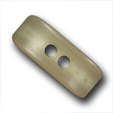 5 große hübsche beige Kunststoff Knebel Knöpfe f. Mäntel / Jacken (2518hg-45mm)