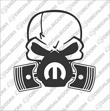 Skull Mask Mopar Window Vinyl Sticker Decals SRT Hemi Charger Hellcat V8 300C