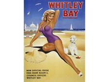 Whitley Bay,Plage Pin up Fille Classique Annonce,mer Vacances,Taille s Métal/