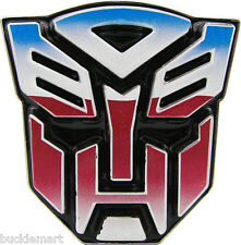 Official 3D Transformers AUTOBOT Belt Buckle Color