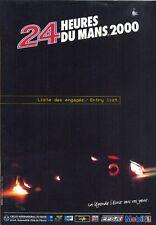 Le Mans 2000 Official Entry List / Liste des Engages