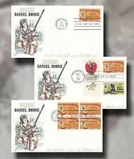 US FDC #1357 DANIELL BOONE Frontier Hunter Set of 3 9/20/68 Cover Craft Cachet