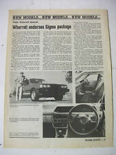 PETER WHERRETT MITSUBISHI SIGMA SPECIAL MAGAZINE PREVIEW ARTICLE