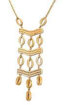 VINTAGE GOLD BRAND DESIGNER JEWELRY LATTICE MAXI KIMBERLY NECKLACE LONG PENDANT