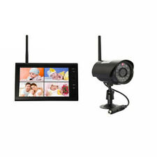 """Wireless 4CH HD Digital Quad DVR 7"""" TFT-LCD Monitor Home System+1 Camera Outdoor"""
