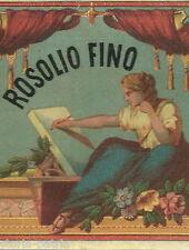 ENOLOGIA_VINI_LIQUORI_ROSOLIO_BELLE ARTI_ANTICA RARA ETICHETTA_PUBBLICITARIA