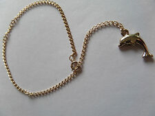 DOLPHIN CHARM GOLD COLOUR ANKLET / ANKLE CHAIN new