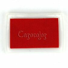 Red Rubber Stamps Craft Ink Pad Stamps Oil Finger Print Paper Wood Fabric Craft