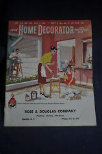 1958 Home Decorator and How to Paint Book by Sherwin Williams