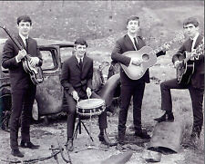 Great Beatles 16x20  photo playing in junk yard