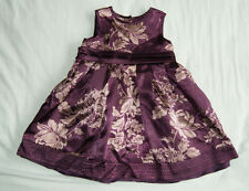 Monsoon purple dress with flowers for a girl 3-6 months