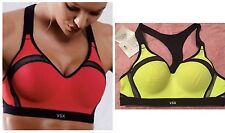 VICTORIAS SECRET VSX Incredible MAXIMUM SUPPORT SPORT BRA In A Flash Neon 34B