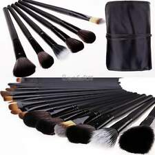 New Professional 35pcs Natural Goat Hair Black Makeup Brushes Set Kit PU Pouch