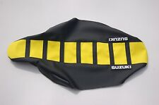 "New ""Suzuki"" Yellow/Black Ribbed Seat cover RMZ250F 2004-06"